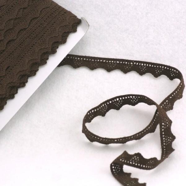 Braune Häkelspitzenborte 1,8cm breit